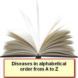 Diseases in alphabetical order from A to Z